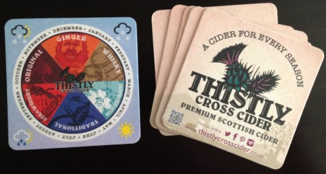 Thistly coasters